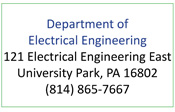 Department of Electrical Engineering, 121 EE East, university park, PA 16802, 814 865-7667
